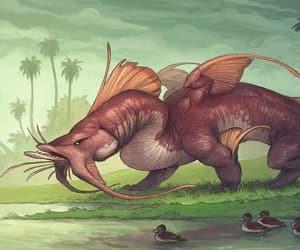 art, fantasy, and catfish image