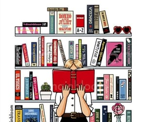 blond, book, and books image