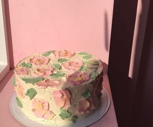 cake, pink, and dessert image