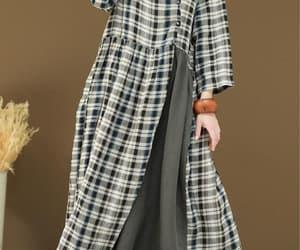 etsy, summer linen dress, and plaid dress image