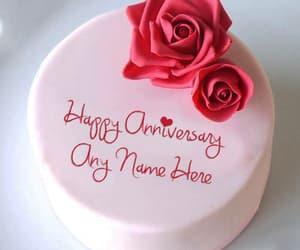 anniversary, happy anniversary, and love anniversary cake image