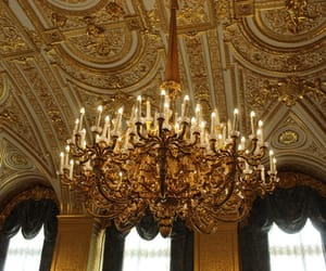 baroque, chandelier, and gold image