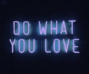 love, neon, and quote image
