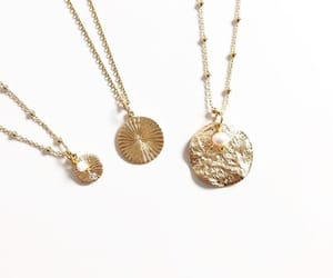 gold, necklace, and golden image
