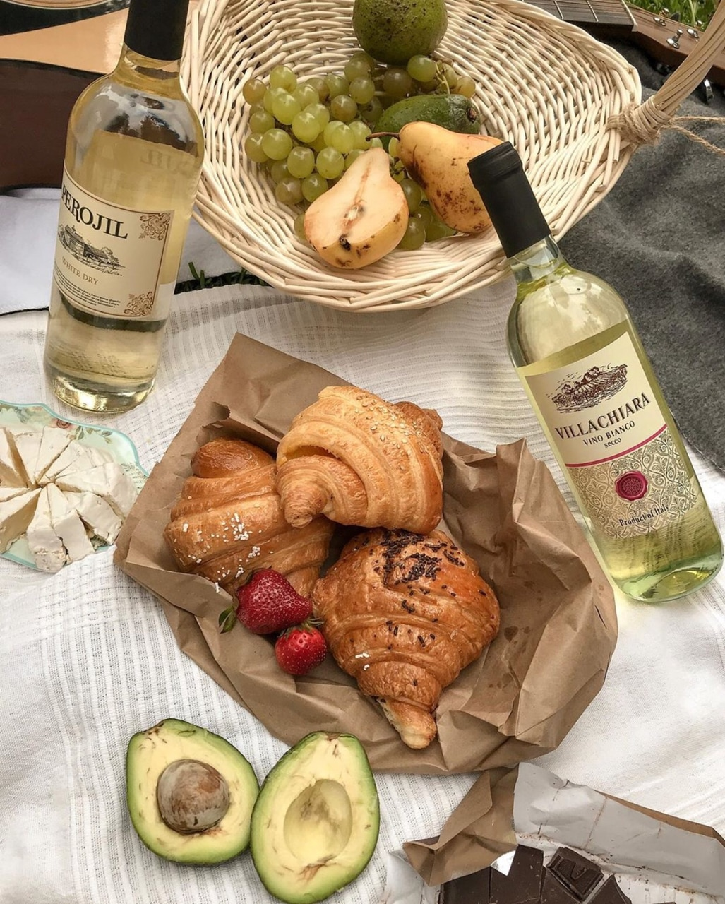 food, wine, and fruit image