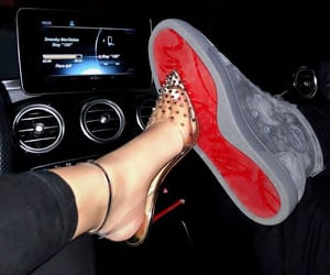 couple, louboutin, and goals image