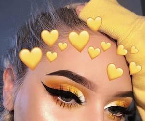 makeup, yellow, and tumblr image