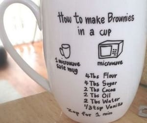 brownies, cup, and diy image