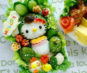 hello kitty, food, and bento image