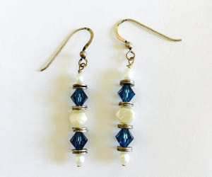 etsy, faux pearls, and blue crystals image