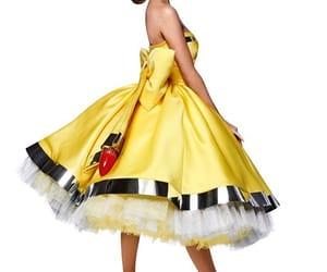 amarillo, dress, and fashion image