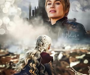 game of thrones, daenerys, and cersei lannister image