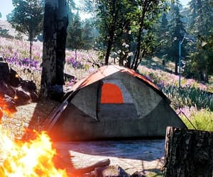 camp, outdoors, and camping image