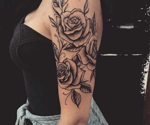 arm, beautiful, and flowers image