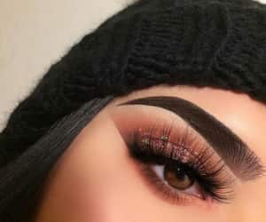 eyebrows, eyeliner, and make up image