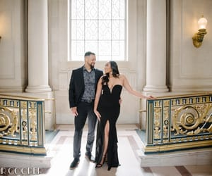 engagement photos, grier cooper photography, and san francisco city hall image