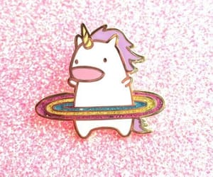 arco iris, caballo, and rosa image