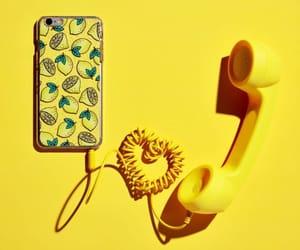 cell phone, lemons, and minimalism image
