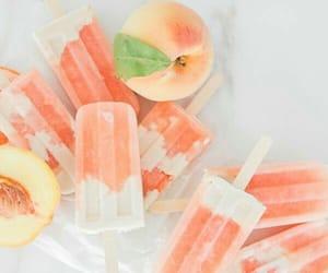 peach, food, and icecream image