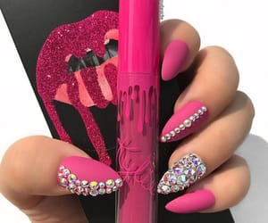 nails, pink, and kylie cosmetics image