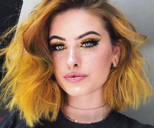 hairinspo, yellowhair, and coloredhair image