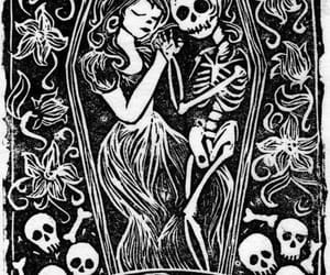 skulls, true love, and love you image