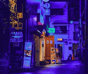background, blue, and neon image