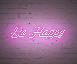 neon, pink, and be happy image