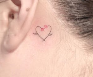 tattoo, flower, and heart image