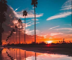 california, sky, and sunset image