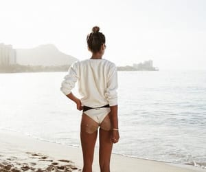 ass, lean, and beach image