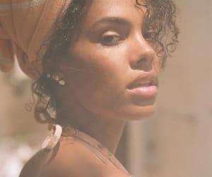 black hair, fashion model, and black model image