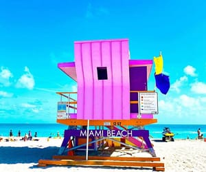beach, colors, and Miami image
