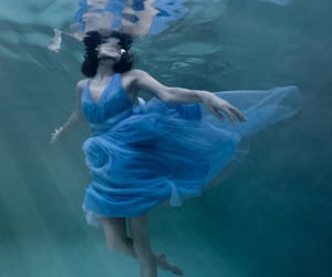 ballerina, ballet, and blue image