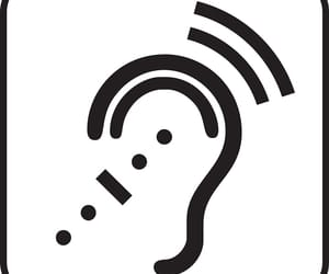 hearing aids, hearing test, and hearing aid fitting image
