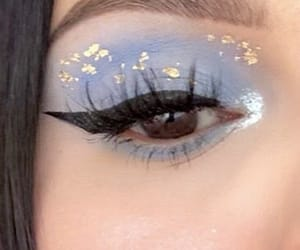 beauty, blue, and brown eyes image