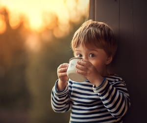 baby, cup, and bokeh image