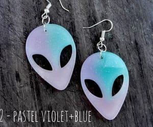 alien, earrings, and space earrings image