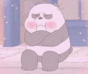 cartoon, panda, and kawaii image