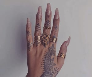 nails, accessories, and tattoo image