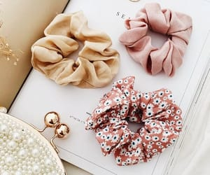 accessories, red, and scrunchies image