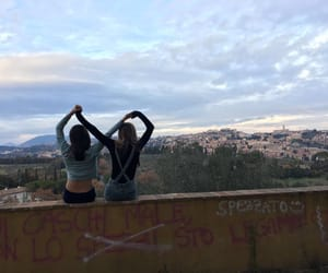 aesthetic, landscapes, and best friends image