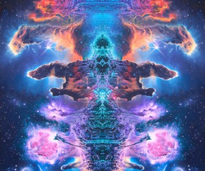 34 and psychedelic image