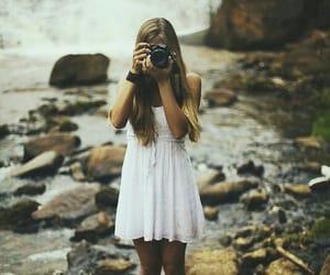 girl, camera, and dress image