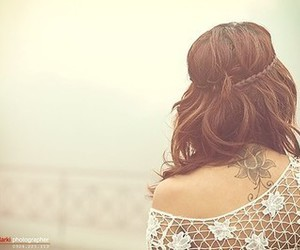 hair, brunette, and cute image