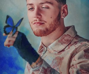 bazzi, boy, and butterfly image