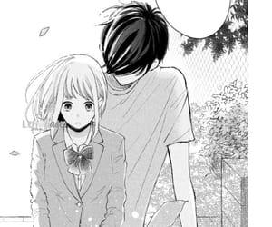 black and white and manga couple image