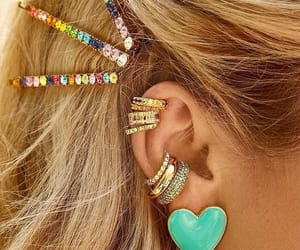 accessories, blond, and colors image