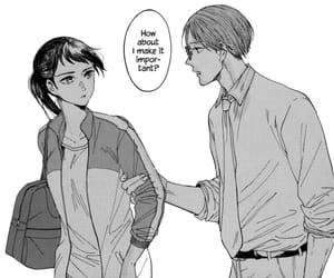 manga, watashi no shounen, and monochrome image