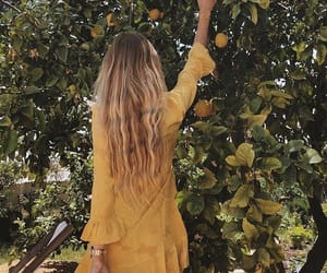 yellow, summer, and hair image